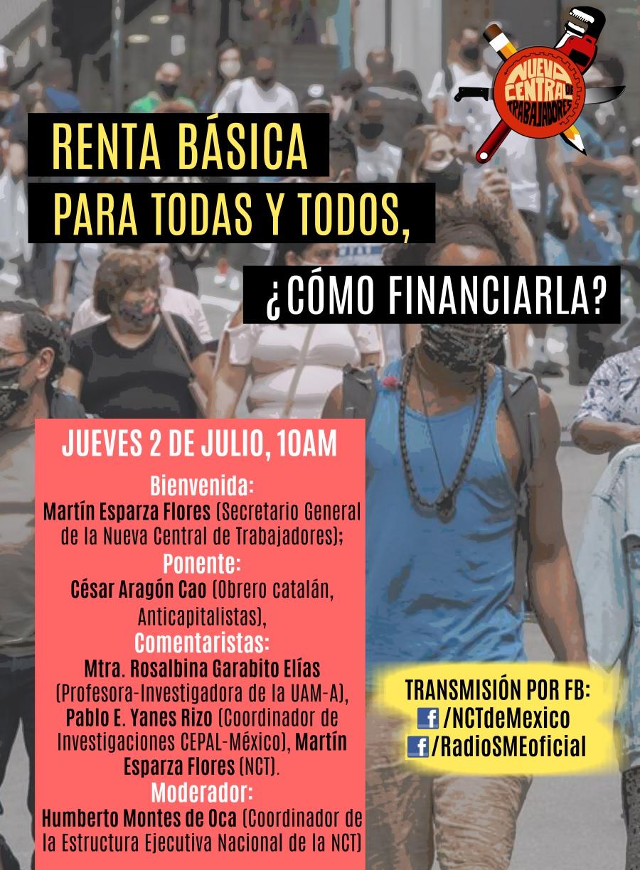 Nuevo Central de Trabajadores: Renta básica para todas y todos, ¿cómo financiarla?
